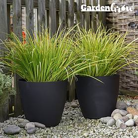 Garden Grow Set of 2 Self Watering Plant Pots Medium